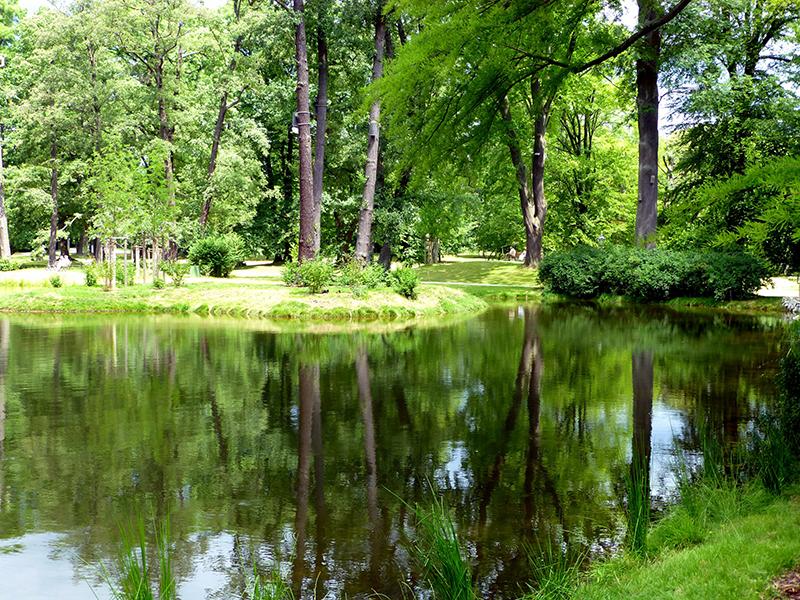 Der Kurpark Bad Homburg ist ein grünes Kleinod mit einem beeindruckenden Baumbestand, Tempeln, Skulpturen und dem Old Course, dem ältesten Golfplatz Deutschlands. Foto: © giggel/Wikipedia
