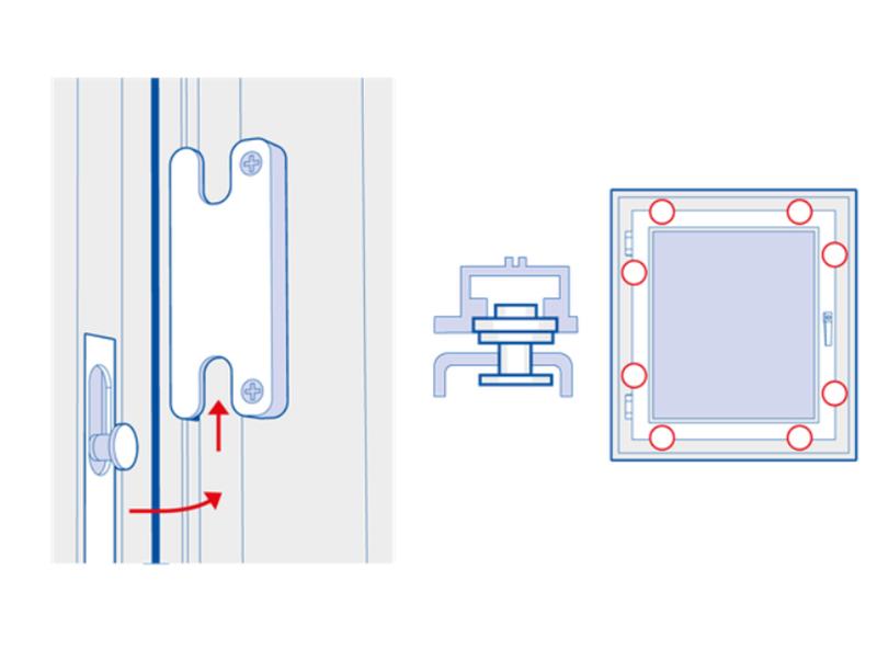 """Mit ihrer T-Form """"verkrallen"""" sich die Pilzkopfzapfen mit dem Rahmen und bieten so einen hohen Schutz gegen das Aufhebeln des Fensters. Foto: © Nicht bei mir!"""
