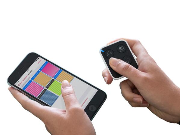 Die Konfiguration der verschiedenen Kanäle erfolgt sehr einfach mittels Bluetooth über die App auf dem Smartphone. Foto: © Hella