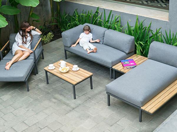 Die hochwertigen, witterungsbeständigen Materialien punkten mit durchdachter Funktionalität und raffinierten Designs. Foto: © Zebra Group
