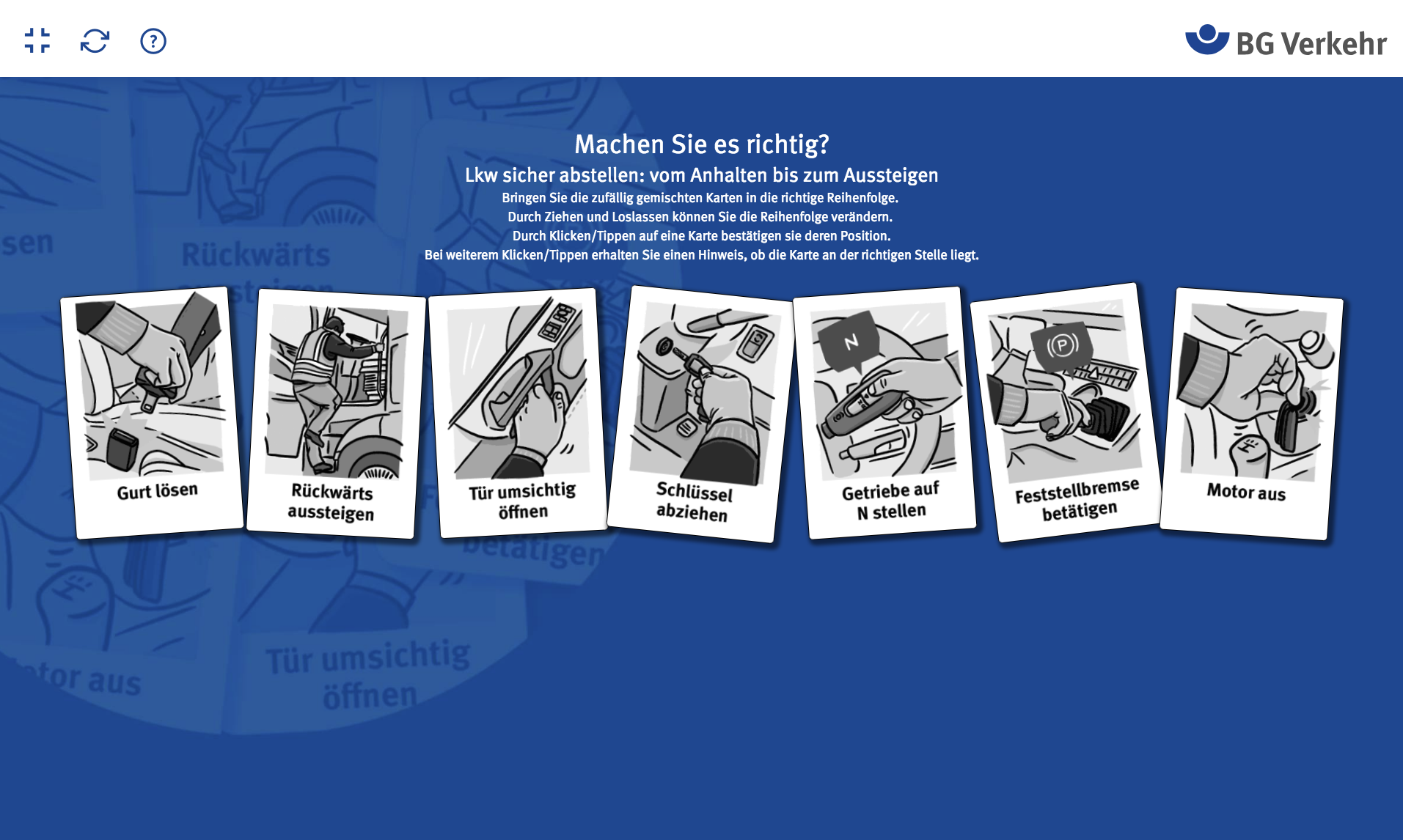 Foto: © Screenshot BG Verkehr