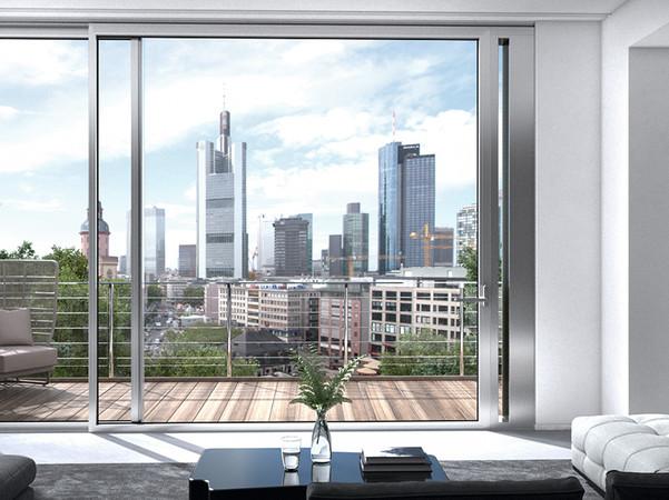 Auf der BAU 2019 in München hat Schüco neue Lösungen präsentiert, die Lärm in Innenräumen und in Außenräumen reduzieren können. Ein Beispiel dafür ist ein Aluminium-Schiebeelement, das mit einem ANC-Lüftungsmodul (Active Noise Cancelling) in Galandage-Ausführung ausgestattet ist. Bei geschlossenem Schiebeelement liegt das ANC-Lüftungsmodul verdeckt in der Wand. Zum Lüften wird über die Handhebelstellung am Schiebeflügel das ANC-Lüftungsmodul aus der Wand herausgefahren. Foto: © Schüco International KG