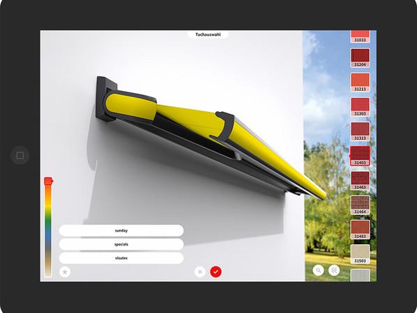 Die 3D App zum Konfigurieren von Markisen hat ein Redesign erhalten. Foto: © Markilux