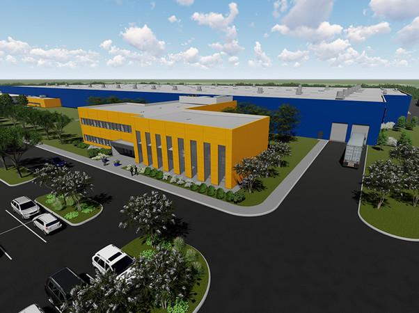 Der neue Standort Sparta in Tennessee ermöglicht eine Ausweitung der Produktion für Garagen- und Industrie-Sectionaltore für den amerikanischen Markt. Foto: © Hörmann