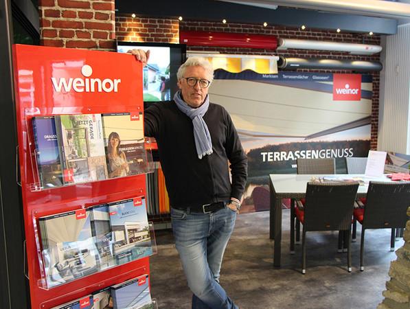 Inhaber Thilo Rott ist sich sehr wohl bewusst, dass eine starke Hersteller-Marke sein Geschäft fördert. Foto: © Weinor