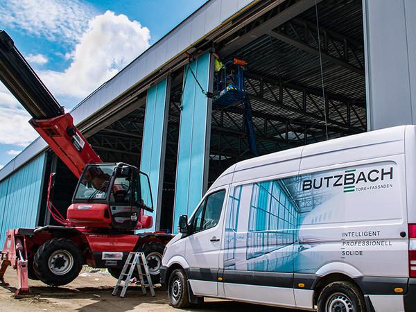 Der Großauftrag in Billund, mit einem Auftragsvolumen von zwei Millionen Euro, ist das aktuellste der mittlerweile über 850 realisierten Projekte im Hangartorbereich von Butzbach. Foto: © Butzbach GmbH