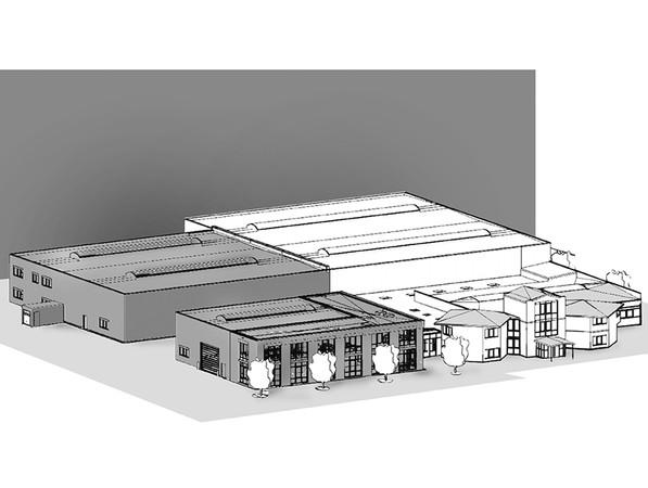 Insgesamt 2500 Quadratmeter umfasst die Fläche für den Neubau am Standort in Rottenburg. Foto: © Berner Torantriebe KG