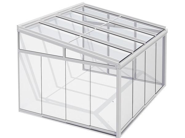 Mit Festverglasungs- und Schiebe-Elementen lassen sich die Glasdächer zum Kalt-Wintergarten ausbauen. Foto: © Lewens-Markisen
