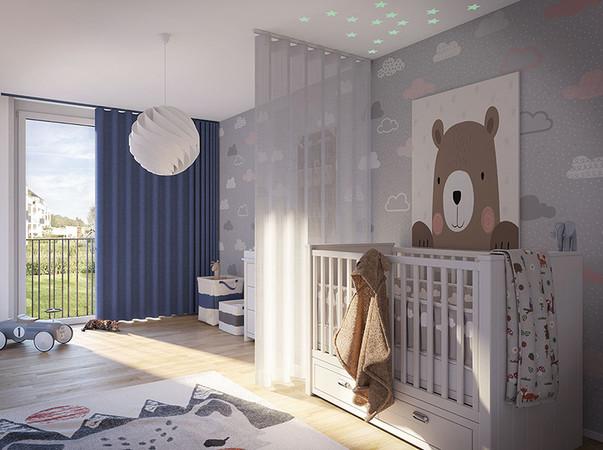 Die neu entwickelten laufruhigen Profile eignen sich als Vorhang genauso wie als stilvoller Raumteiler. Foto: © Silent Gliss