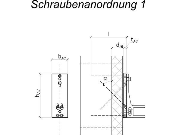 Zur Markisenbefestigung gibt es zwei unterschiedliche Möglichkeiten der Schraubenanordnung. Einmal kreuzen sich die schrägen Schrauben miteinander in Dämmung oder Holzbauteil, das andere Mal mit den horizontalen Schrauben. Foto: © Fischer