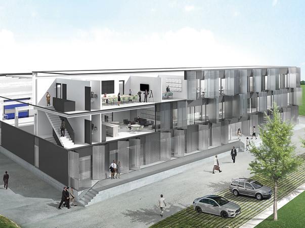 Alle Planungsdaten werden in einem zentralen 3D-Model erfasst, verarbeitet und vernetzt. Architekten und Planer können so zum Beispiel ein daraus generiertes Rendering für Freigabeprozesse beim Bauherren verwenden. Foto: © Hörmann