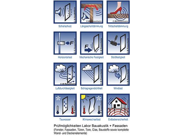 """Das neue Labor """"Am Oberfeld"""" bietet umfassende Prüfmöglichkeiten für Fenster, Fassaden, Türen, Tore, Glas, Baustoffe sowie komplette Wand- und Deckenelemente. Foto: © ift Rosenheim"""