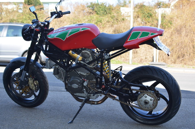 Ein Hingucker: Eigenbau-Ducati D.S. Moto von Dieter Schmeink. Foto: © Jürgen Ulbrich