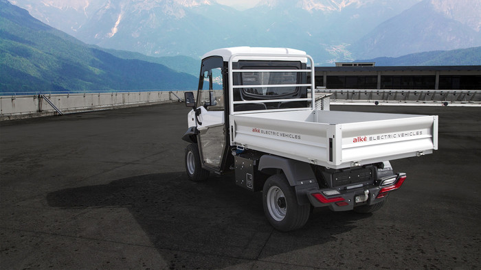 Ab 25.000 Euro gibt es den kleinen E-Transporter von Alkè. Er hat eine Reichweite von bis zu 150 Kilometer. Foto: © Alkè