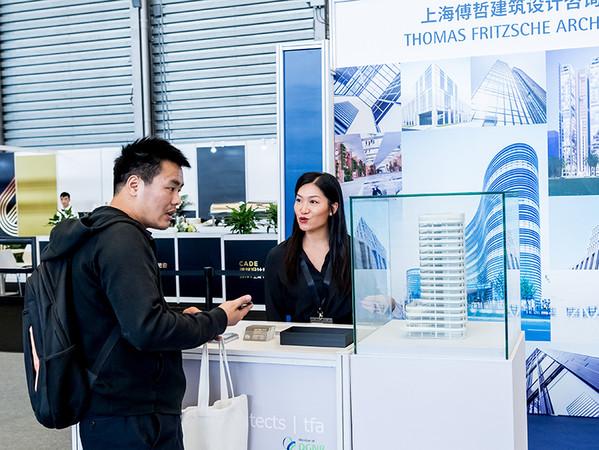 Die China Architecture Design Expo (CADE) war ein Besuchermagnet und brachte nationale und internationale Architekten zusammen. Foto: © Messe München/picture alliance/Zhou