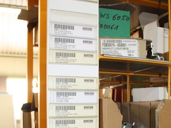 Alles geordnet: Die Barcodes sorgen für eine gute Übersicht und einen schnellen Bestellprozess. Foto: © Schüt-Duis