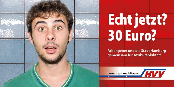 Ab dem 1. August 2020 können Azubis, die in Hamburg ihre Lehre absolvieren, für 30 Euro im Monat die öffentlichen Verkehrsmittel des Hamburger Verkehrsverbundes (HVV) nutzen. Foto: © HVV