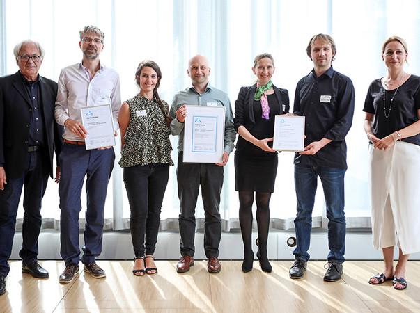 Die Gewinner 2019 in der Kategorie Forschung. Foto: © DGNB