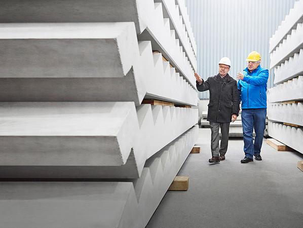 Das Fließmittel MasterEase optimiert rheologische Eigenschaften von Hochleistungsbeton und beschleunigt die Produktion. Foto: © BASF SE