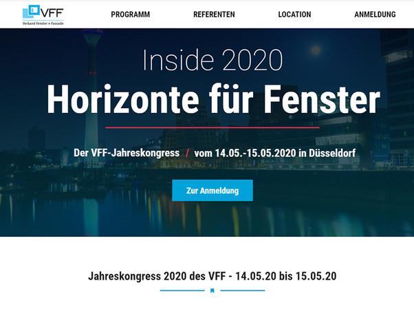 Alle Informationen zum VFF-Jahreskongress Inside 2020 in Düsseldorf finden Sie auf der eigens zum Jahreskongress geschalteten Microsite unter https://jk2020.window.de/ Foto: © VFF