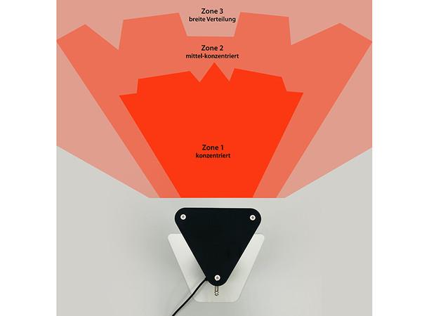 Die Strahlung einer einzelnen Röhre wird im Gehäuseinneren der Heat Tower-Modelle mehrfach reflektiert. Dies sorgt für eine besonders weit gefächerte Wärmeausbeute unterschiedlicher Intensität. Foto: © Vasner
