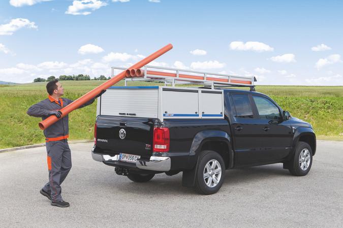 Mit Dachträger von LogicLine lange Werkstücke einfach transportieren! Foto: © LocicLine