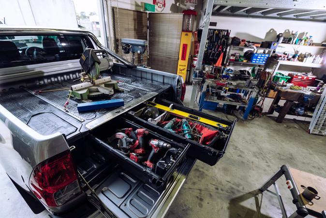 Schubladen von GearTraders: Werkzeug immer gut sortiert und griffbereit! Foto: © Geartraders