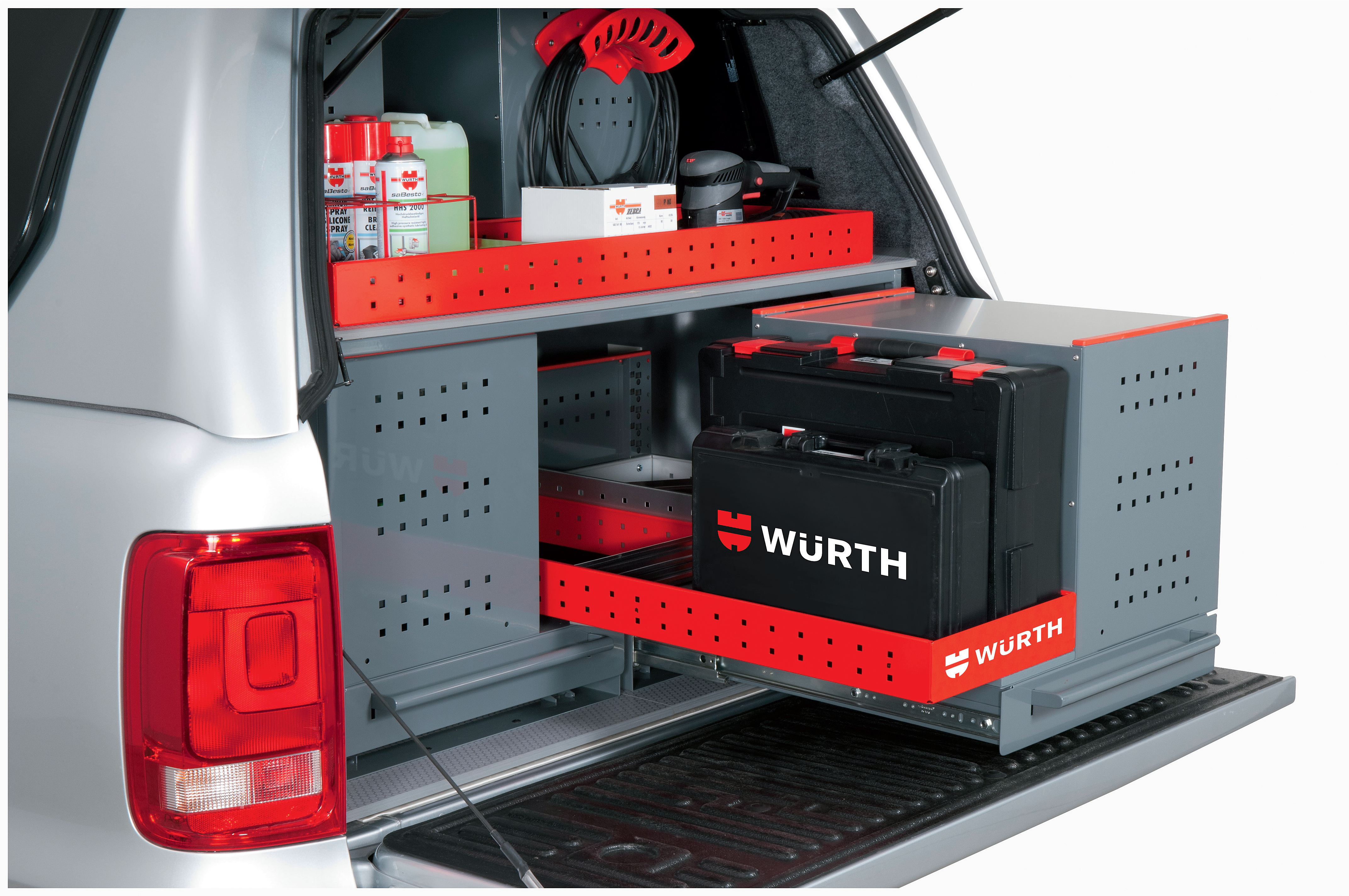 Speziell auf die Bedürfnisse von Handwerkern abgestimmte Schubladenmodule von Würth. Foto: © Würth