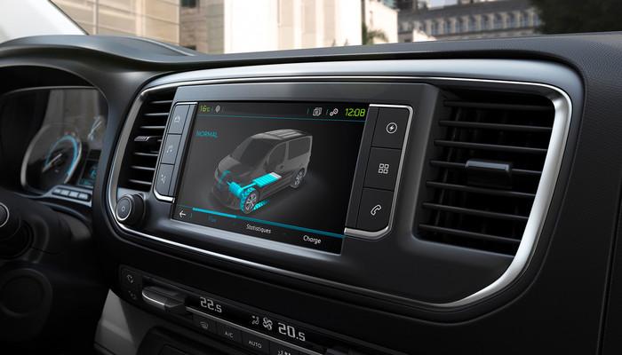 Der Energieverlauf lässt sich auf dem Touchscreen verfolgen. Foto: © Peugeot