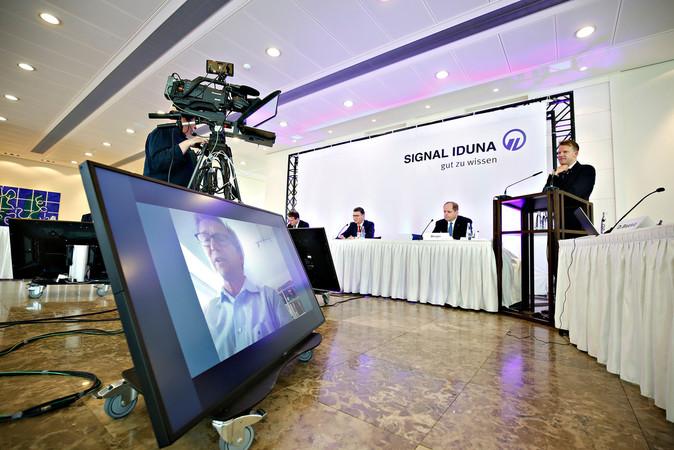 Digitale Bilanz-Pressekonferenz der SIGNAL IDUNA mit Vorstandschef Ulrich Leitermann Foto: © Benito Barajas/SIGNAL IDUNA