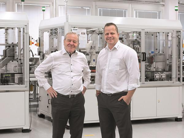 Die geschäftsführenden Gesellschafter (v.l.) Heinz und Philip Schmersal Foto: © Andreas Fischer/ Schmersal