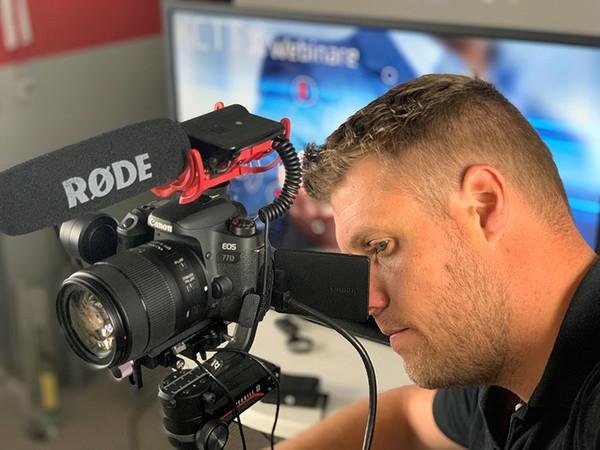 Es werden Videos zum Thema Tortechnik gedreht, die auch komplexe Inhalte anschaulich vermitteln. Foto: © KCTT