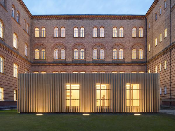 Projekt: Pavillons Überäume für Musikstudierende der UdK. Architektur: TRU Architekten. Foto: © Werner Huthmacher