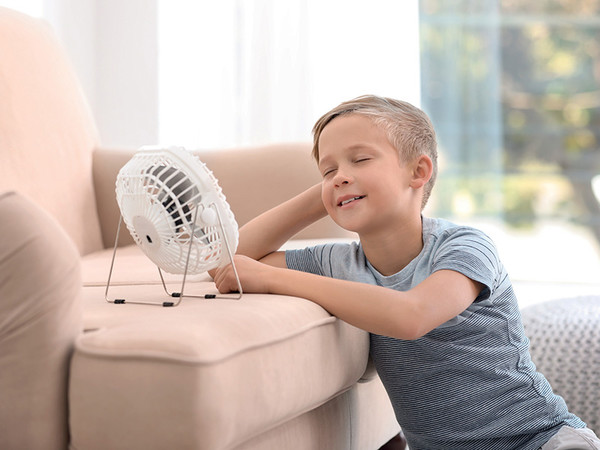 Ein Ventilator schafft Erleichterung an besonders heißen Tagen. Foto: © IWO/New Africa - stock.adobe.com/bpr