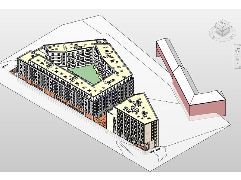 Das 3D-Modell erstellt von JMJ Architekten wird als digitaler Zwilling des späteren Gebäudes aktiv in der Planungsphase eingesetzt und unterstützt die Ausführungsphase. Foto: © CG Gruppe