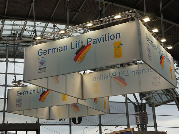Der German Lift Pavilion 2018 bei der Euro-Lift in Polen. Foto: © Ulrike Lotze