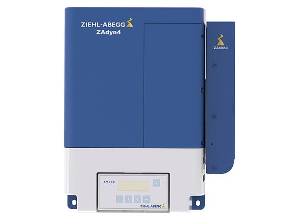 Ziehl-Abegg-Frequenzumrichter ZAdynpro mit integrierter CiA 417-Schnittstelle und Bedienterminal ZApadpro für Schaltschrankeinbau. Foto: © Ziehl-Abegg