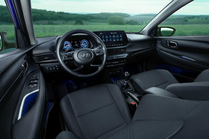 Mit viel Platz glänzt das Cockpit des neue Hyundai i20. Foto: © Hyundai