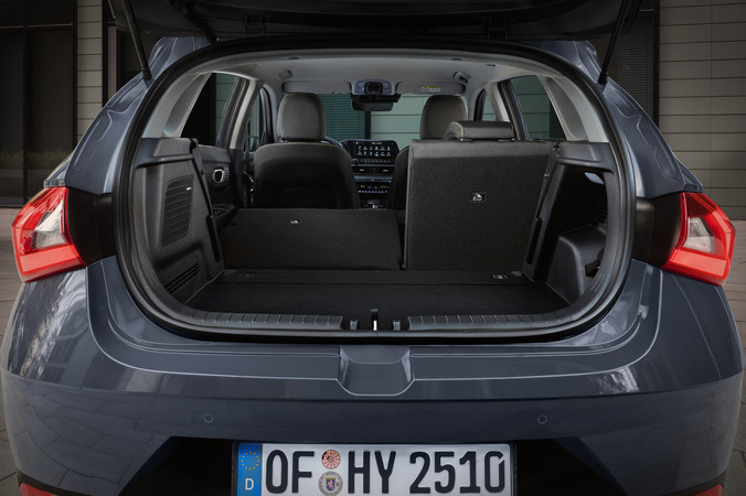 Blick in den Kofferraum des neue Hyundai i20. Foto: © Hyundai