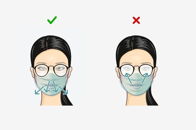 Bewusstes Ausatmen nach unten verhindert das Beschlagen der Brillengläser. Foto: © KGS e.V./www.sehen.de
