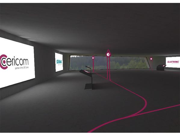 In einem der fünf Gebäude des Lisec Campus präsentierten sich die Lisec Partner Cericom (Lasermaschinen), Schraml (Hersteller von Glasbearbeitungs- und Waschmaschinen), Glastronic (Spezialist für gebrauchte Glasbearbeitungsmaschinen) und das Lisec Kompetenzzentrum für Forschung, Produktion und Schulung im Bereich der Flachglasverarbeitung (GLASTECH). Foto: © Lisec