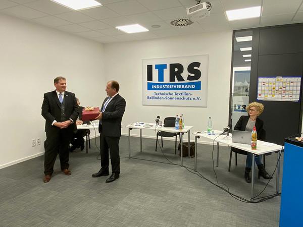 Thomas Roman wurde für sein Engagement als Präsident gedankt. Foto: © ITRS