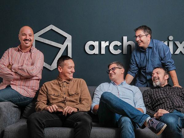 Der Gründer & CEO von archibrix, Davor Bagaric (Mitte), mit seinem Team. Foto: © Beap labs Ltd