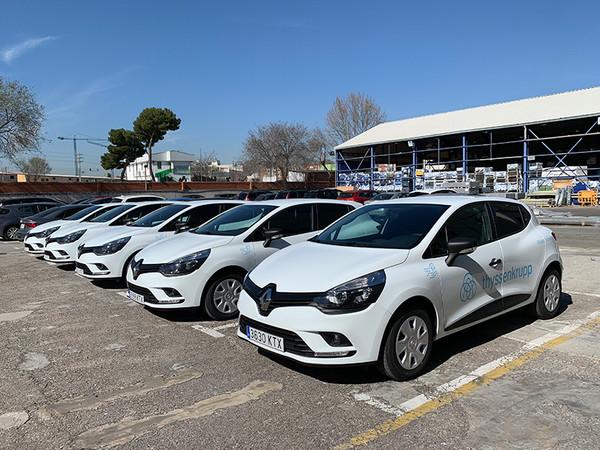 In Spanien und den USA wird die Fahrzeugflotte des Konzerns sukzessive auf Hybrid und Elektro umgestellt. Foto: © thyssenkrupp Elevator