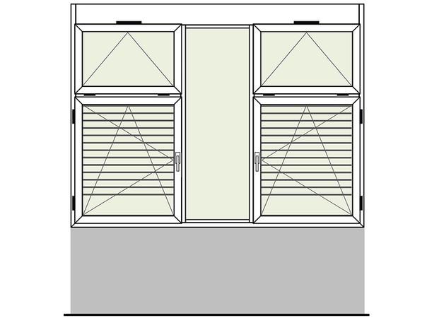 Beispiel für die funktionale Gestaltung eines guten Schulfensters (aus der ift-Richtlinie FE-16/2 Einsatzempfehlungen für Fenster in Schulbauten) Foto: © ift Rosenheim