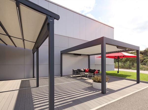 Der Bereich Outdoor Living kommt in dem Konzept keinesfalls zu kurz. Foto: © Warema