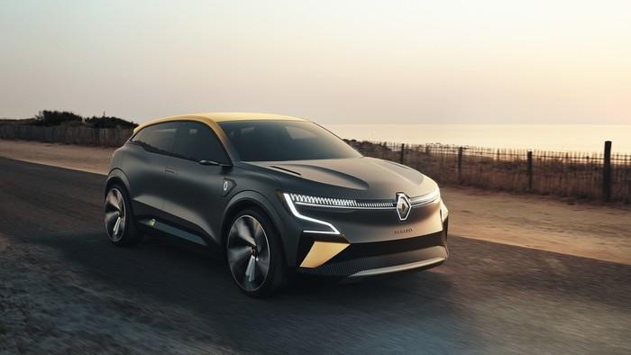 Das Concept Car Mégane eVision gibt einen Ausblick auf eine neue Generation von E-Fahrzeugen der Renault-Nissan-Mitsubishi-Allianz Foto: © Renault