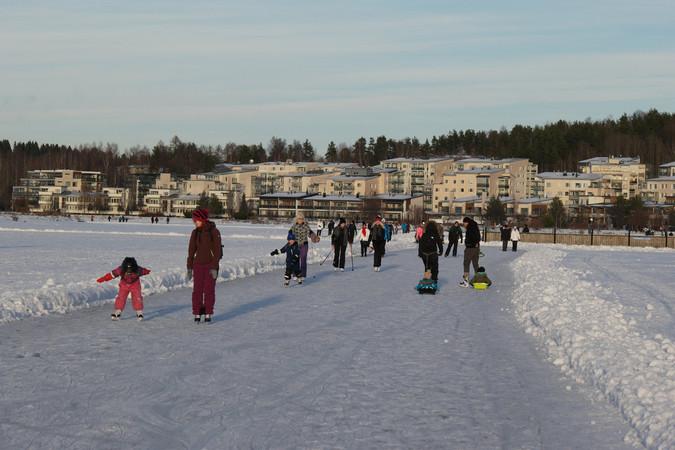 Skilanglauf ist in Finnland, ganz normal und beginnt schon in der Stadt. Foto: © Visit Finnland