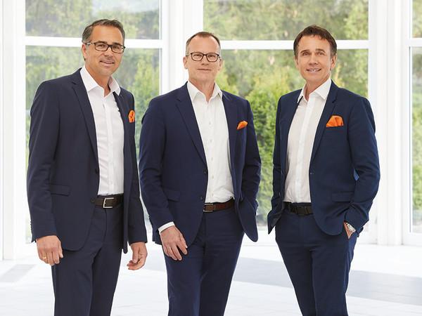 The Managing Directors Lothar Kübler, Martin Huth and Gebhard Kübler (from left). Photo: © Kübler