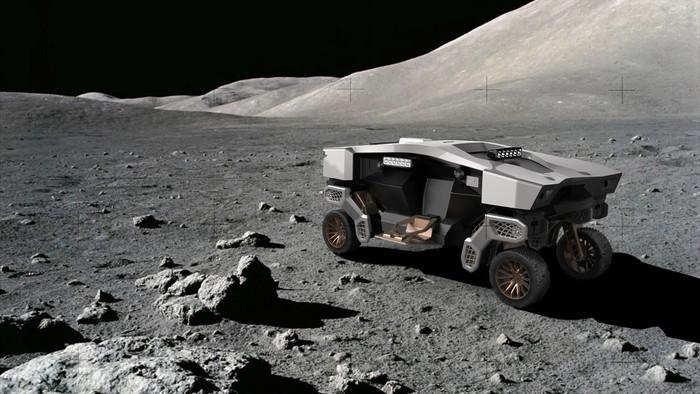 Selbst auf dem Mond könnte sich der unbemannte Bodenroboter Tiger bewegen, aber bis dahin ist es ein weiter Weg. Denkbar sind Einsätze auf der Erde in schwer zugänglichen Gebieten, um Menschen zu helfen. Foto: © Hyundai